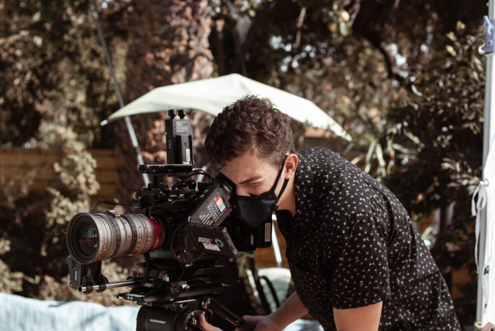 A person shooting video with camera